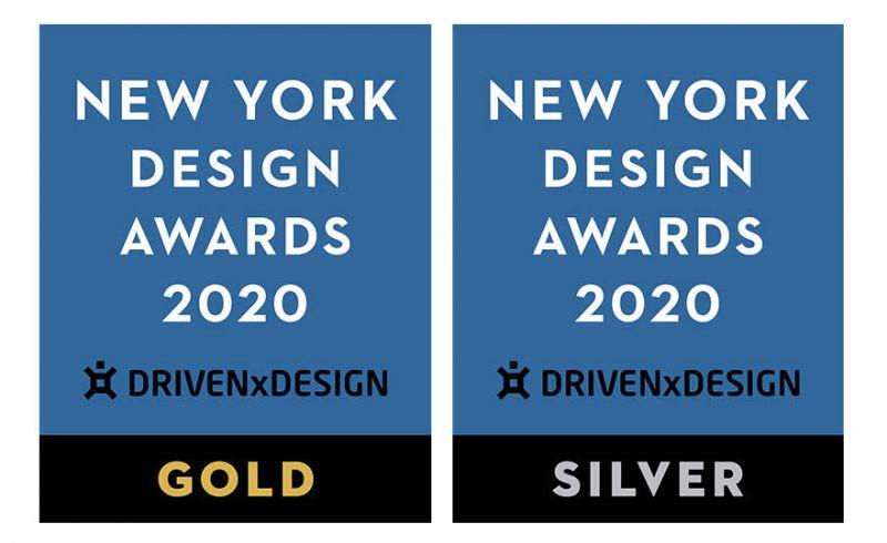 紐約設計大獎(New York Design Awards)金獎及銀獎